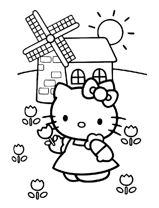 colorier hello kitty