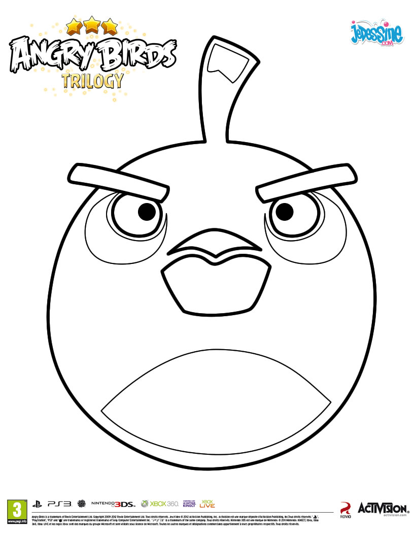 Colorier angry birds - Dessin de angry birds star wars ...