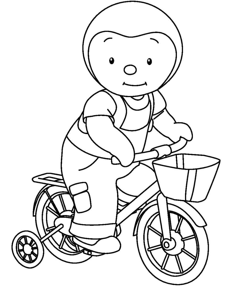 Colorier tchoupi - Coloriage de cycliste ...